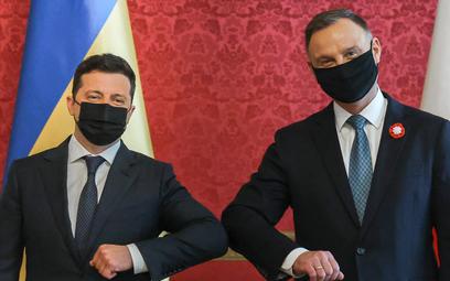 Prezydent Ukrainy Wołodymyr Zełenski i prezydent Andrzej Duda