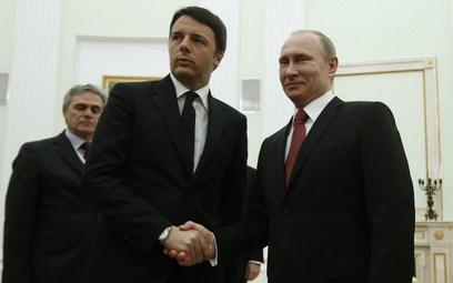 Matteo Renzi i Władimir Putin