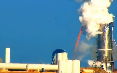 Marsjańska rakieta Elona Muska uszkodzona