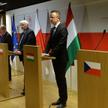 Ministrowie spraw zagraniczny państw Grupy Wyszehradzkiej oraz unijny komisarz Johannes Hahn podczas