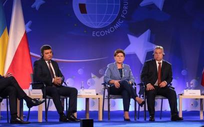 6 września na Forum Ekonomicznym w Krynicy. Szefowie rządów państw Grupy Wyszehradzkiej i Ukrainy. O