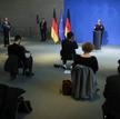 Poniedziałkowa konferencja kanclerz Merkel. Tylko niewielka grupa luźno posadzonych dziennikarzy