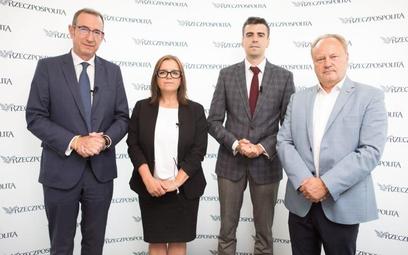 W debacie uczestniczyli (od lewej): Jan Grzegorz Prądzyński, prezes Polskiej Izby Ubezpieczeń, Katar