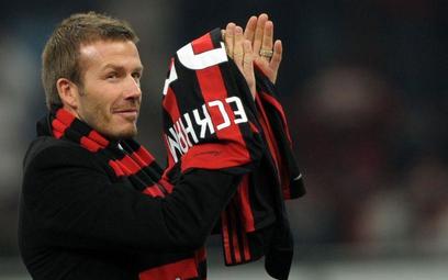 David Beckham w czasie wypożyczenia do AC Milan