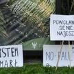 Protest pracowników ochrony zdrowia .Domagają się między innymi wyższych zarobków i lepszych warunkó