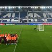 Trening piłkarzy Realu na stadionie w Bergamo