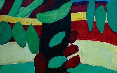 Tadeusz Dominik, Pejzaż, olej, płótno, 73 x 92, 2010 dzięki uprzejmości Galerii Sztuki Wirydarz