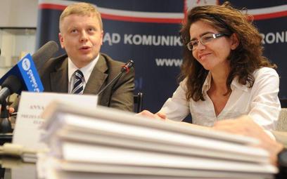 Od prawej Anna Strężyńska, prezes Urzędu Komunikacji Elektronicznej i Maciej Witucki, prezes TPSA