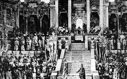 """Scena z prapremiery """"Turandot"""" w La Scali, 1926 r."""