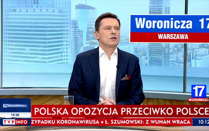 """Protest posła ws. paska w TVP Info. """"To jest jednak idiotyczne"""""""