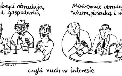Komentarz rysunkowy. Ruch w interesie