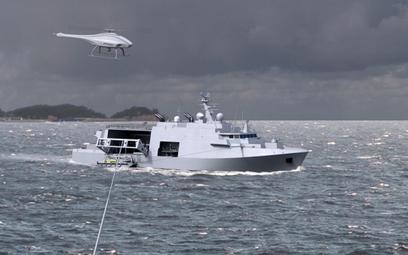 Wizja przyszłych belgijsko-holenderskich okrętów przeciwminowych. Rys./ Naval Group.