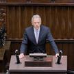 Poseł KO Dariusz Rosati przemawia na sali obrad Sejmu w Warszawie