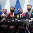 Profesor Marcin Wiącek (w środku) zyskał poparcie PO, PSL, Lewicy i partii Szymona Hołowni