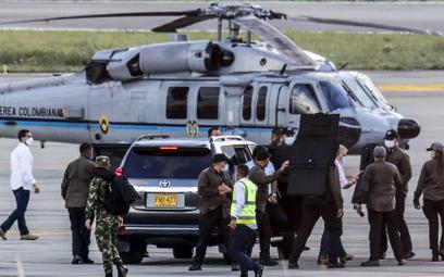 Kolumbia. Ostrzelano helikopter, którym leciał prezydent