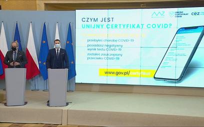 Niedzielski: Certyfikat covidowy już mamy, na aplikację trzeba poczekać