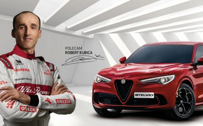 Przedłużoną gwarancję Alfy Romeo reklamuje Robert Kubica