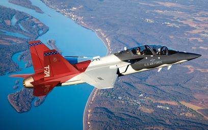Odrzutowy samolot szkolno-treningowy Boeing/Saab T-7A Red Hawk. Fot./Boeing.
