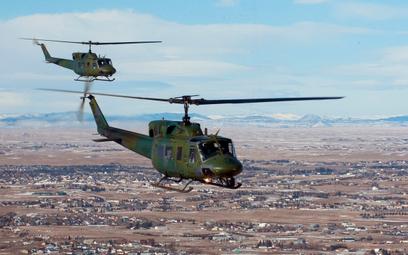 Śmigłowce Bell UH-1N Iroquois, a więc wojskowej wersji produkowanej w latach 70., są nadal użytkowan
