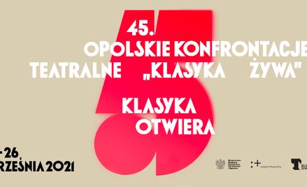 """Plakat 45. Opolskich Konfrontacji Teatralnych """"Klasyka Żywa"""""""