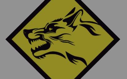 Głowa wilka, znak rozpoznawczy obrony terytorialnej.