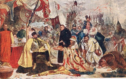 """""""Stefan Batory pod Pskowem"""", obraz Jana Matejki z1872 r."""