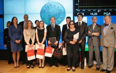Na zdjęciu: uczestnicy gali finałowej konkursu Moneta Platina w Sali Notowań Giełdy Papierów Wartośc