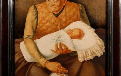 """Jan Zamoyski (1901 Kazimierza Wielka - 1986 Warszawa) """"BABUNIA"""" (NIANIA), PRZED 1932 R. tempera/płyt"""