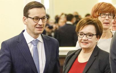Premier Mateusz Morawicki i minister Anna Zalewska