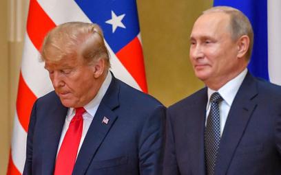 Prezydenci USA i Rosji - Donald Trump i Władimir Putin