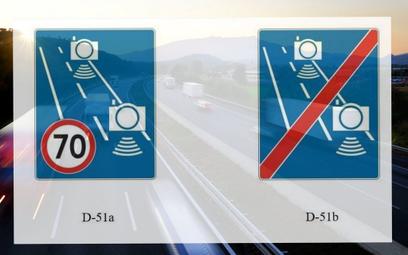 Znaki D-51a i D-51b