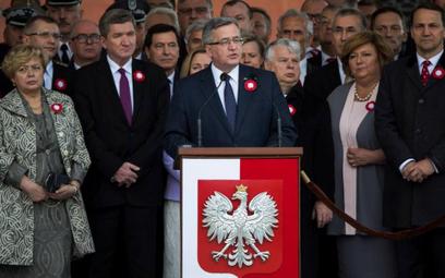 Bronisław Komorowski podczas uroczystości święta Konstytucji 3 maja