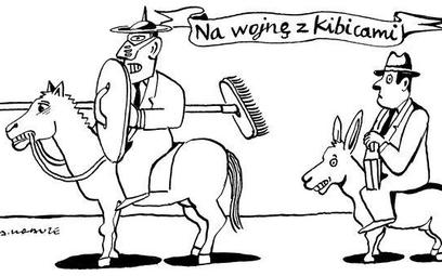 Komentarz rysunkowy. Na wojnę z kibicami