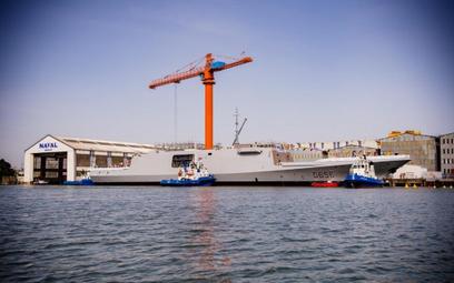 Wodowanie fregaty Alsace dla Marine nationale w stoczni w Lorient. Fot./ Naval Group.