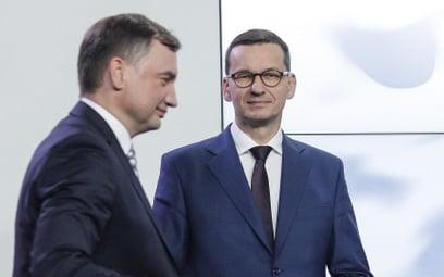 Minister sprawiedliwości Zbigniew Ziobro i premier Mateusz Morawiecki