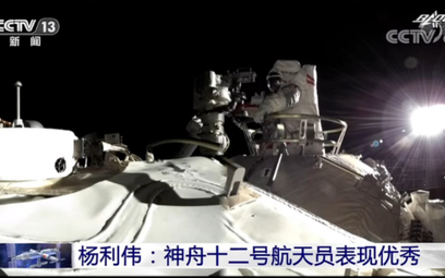 Pierwszy kosmiczny spacer na chińskiej stacji Tiangong