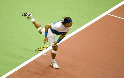Rafael Nadal na kortach w Rotterdamie