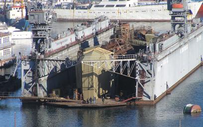 Pechowy okręt podwodny B-380 w pechowym doku D-16. Fot./Wikipedia