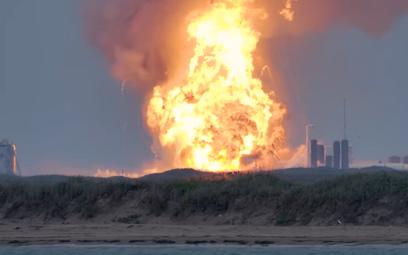 Eksplozja rakiety SpaceX podczas testu w Teksasie