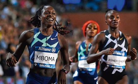 Christine Mboma musiała zmienić konkurencję i wygrała w finale Diamentowej Ligi 30 tysięcy dolarów