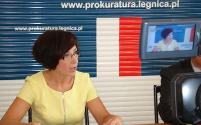 Prokurator Liliana Łukasiewicz, rzecznik prasowy Prokuratury Okręgowej w Legnicy.