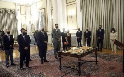 Zaprzysiężenie nowych członków greckiego rządu