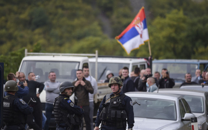 Protest na granicy Kosowa z Serbią