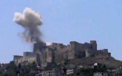 Słynny syryjski zamek zbombardowany