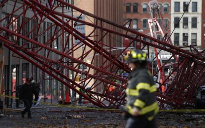 Nowy Jork: Przewrócił się dźwig, zginęła jedna osoba