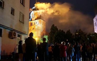 Pożar katedry w Gorzowie Wlkp.