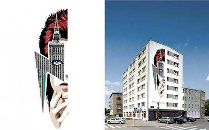 Mural dla Davida Bowiego w Warszawie