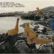 """Jan Dziaczkowki, bez tytułu, z cyklu """"Japanese Monster Movies"""", 2009, kolaż, 15 x 10 cm, zdj. dzięki"""