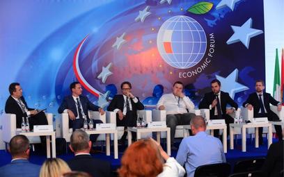 Ekspansji zagranicznej polskich firm poświęcono w tym roku w Krynicy dużo uwagi. Na zdjęciu uczestni