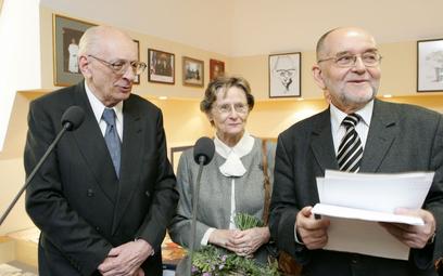 Uroczyste otwarcie Gabinetu im. Władysława i Zofii Bartoszewskich w Ossolineum, 2006 r.